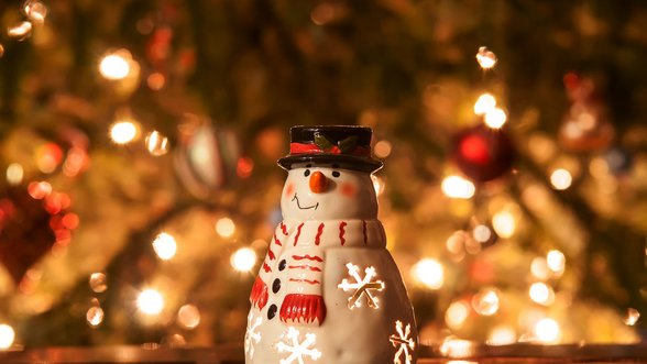 Christmas candle snowman with lights size large